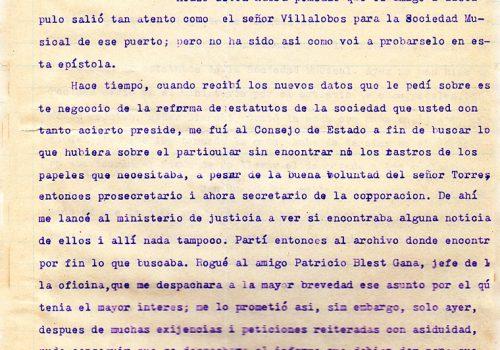 Carta a Corredores de Comercio, fecha 26 de julio 1910