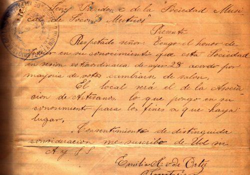 Carta-Sociedad-Union-Fraternidad--1895ca