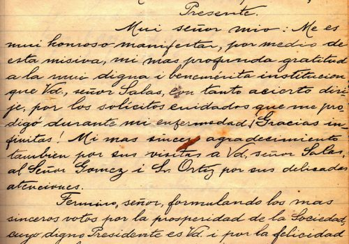 Carta, fecha 9 de abril 1906