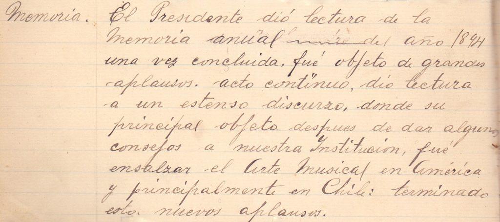 19 Solemne Junta General Ordinaria, efectuada el 7 de enero de 1895