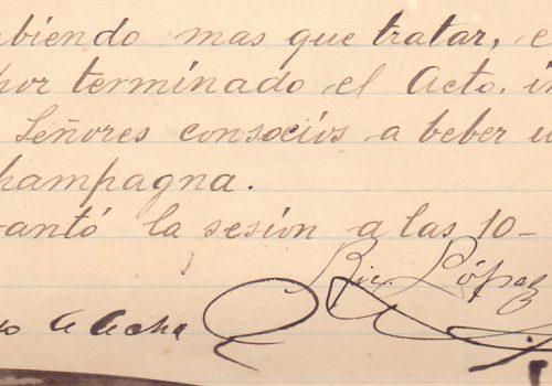 14° junta general celebrada en 18 de julio de 1894 en: Libro de Actas de Juntas Generales desde la Inauguración de la Sociedad un 5 de diciembre de 1893 hasta el 25 de enero de 1904