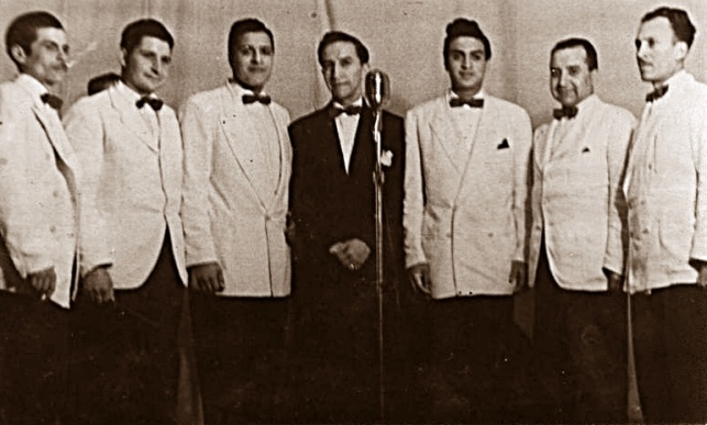 Orquesta de Miguel de Castro, agrupación con la que Manuel recibió el Premio Cóndor de oro, mediante un programa radial en Valparaíso.