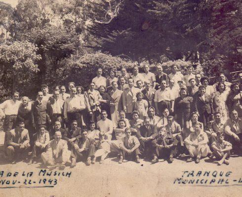 Paseo de Celebración del Día de la Música en el Tranque Municipal de Viña del Mar, 22 de noviembre de 1943.