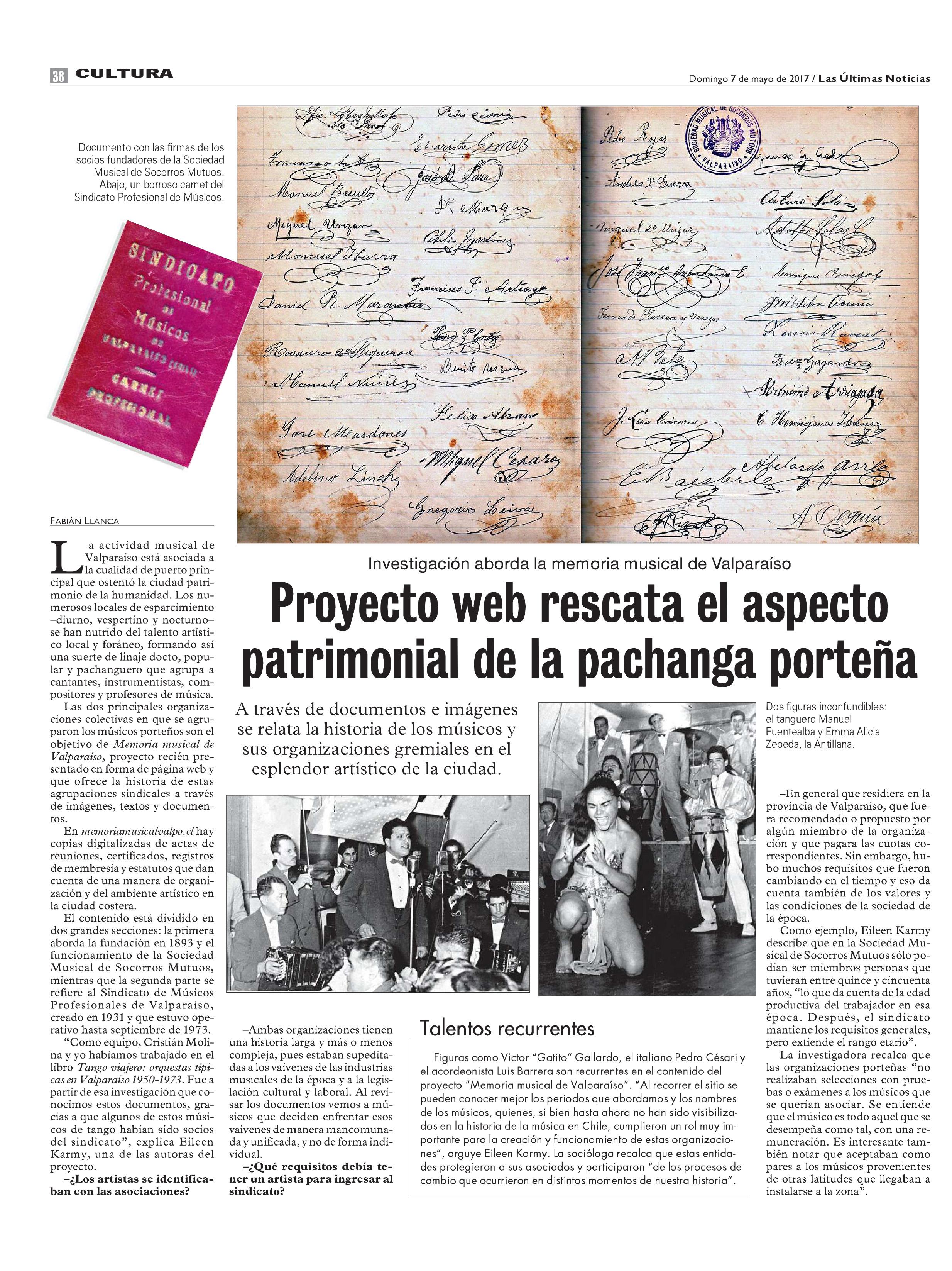 Proyecto web rescata el aspecto patrimonial de la pachanga porteña