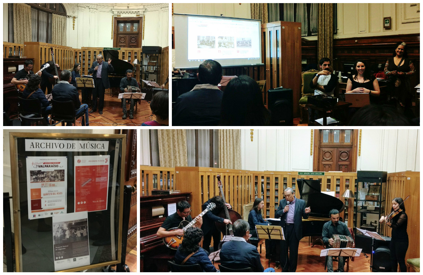 Presentamos Segunda Etapa del Proyecto Memoria Musical de Valparaíso en Santiago