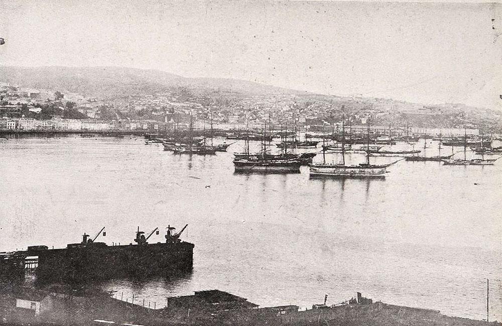 Panorámica de Valparaíso antes del terremoto de 1906. Vista digitalizada de Revista Sucesos 27 de diciembre de 1907