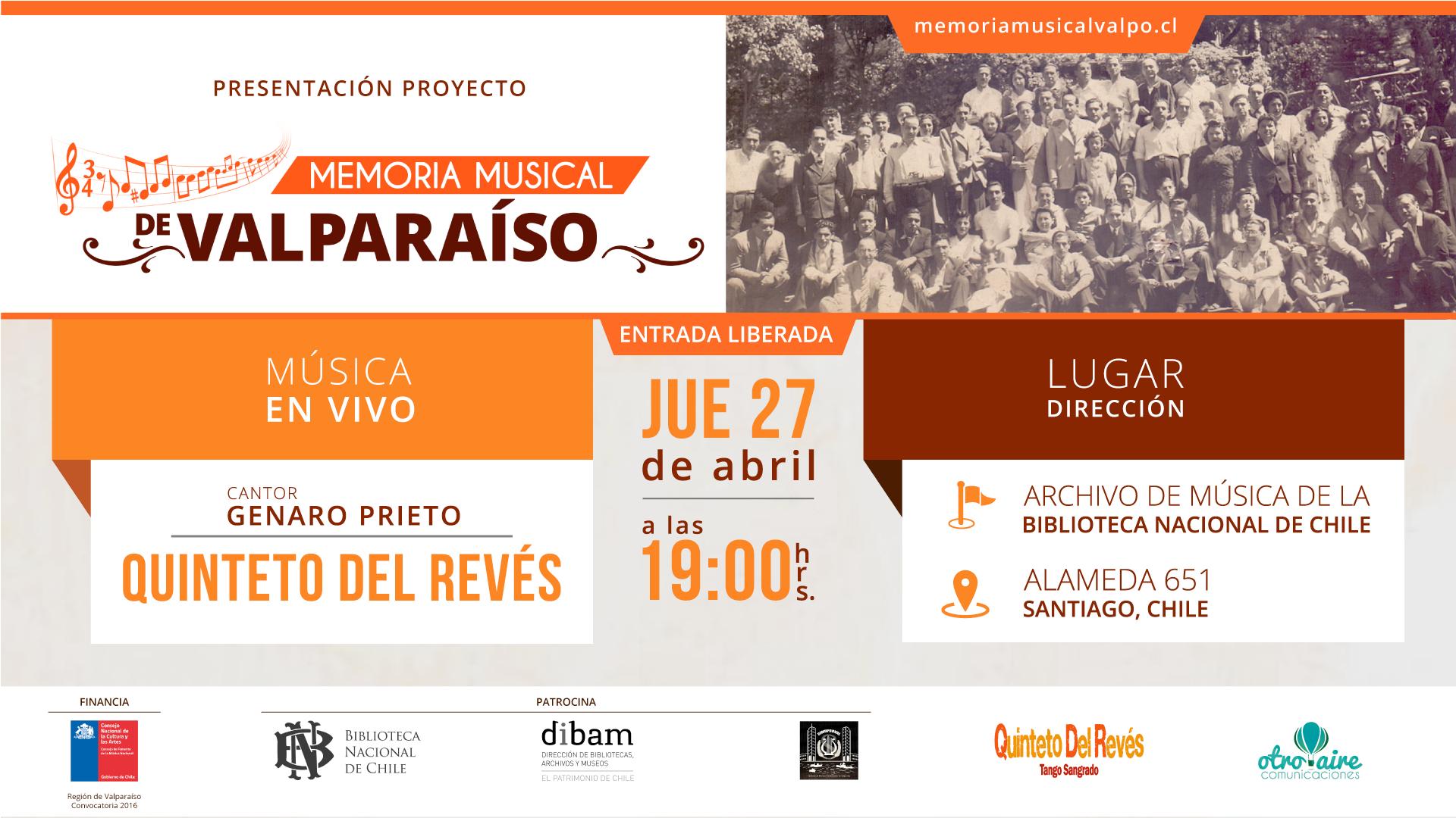 Presentación Proyecto Memoria Musical de Valparaíso